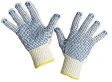 Megztos darbinės Pirštinės | 369 PVC taškeliais iš abiejų pusių