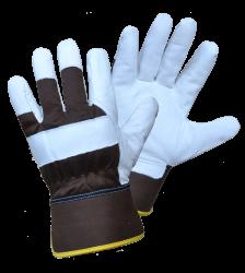Žieminės kombinuotos odinės su tekstile darbinės pirštinės | FROZY