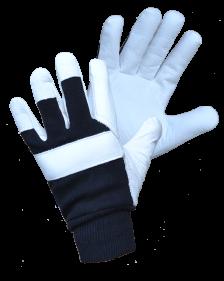 Žieminės kombinuotos odinės su tekstile darbinės pirštinės | ICY