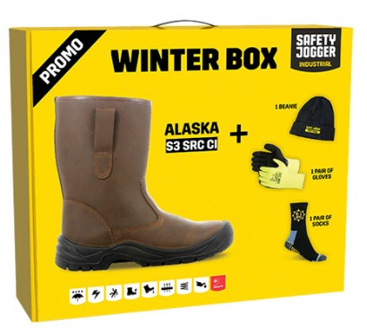Žieminiai odiniai pusauliniai darbo batai | ALASKABOX S3 SRC CI