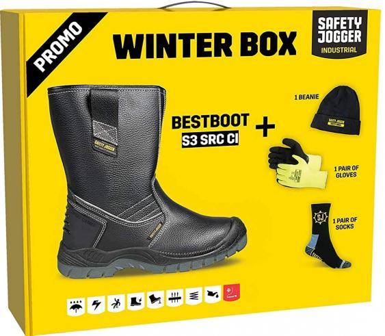 Žieminiai odiniai pusauliniai darbo batai   Bestboot Box S3 SRC CI